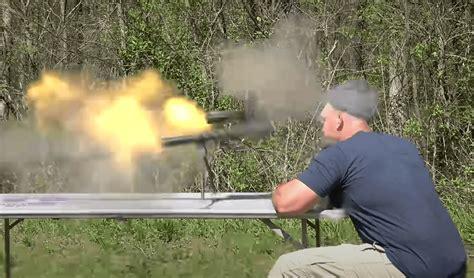 Guy Shooting 50 Cal Sniper Rifle