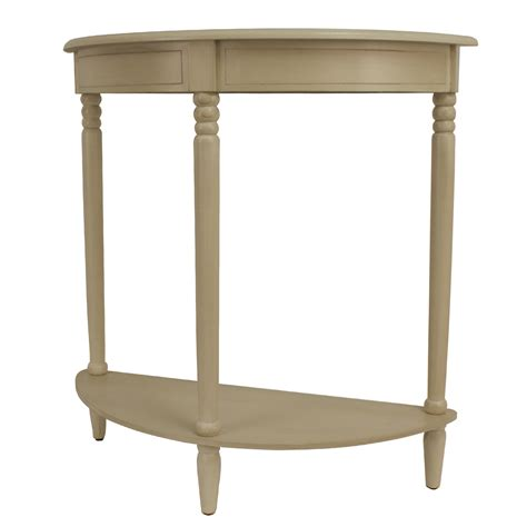Half Round End Table White Image
