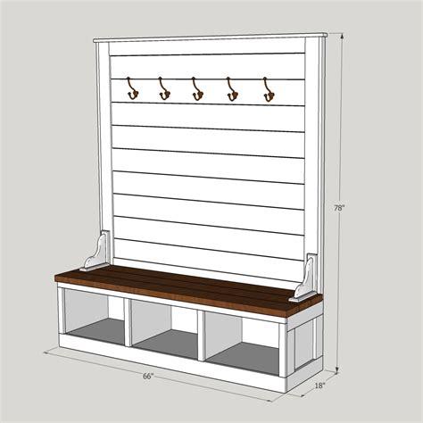 Hall tree bench plans Image