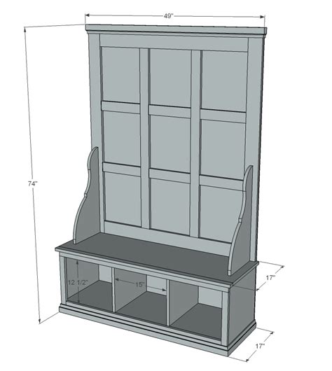 Hall tree woodworking plans Image
