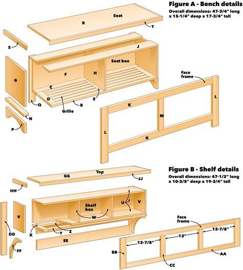 Hallway bench plans Image