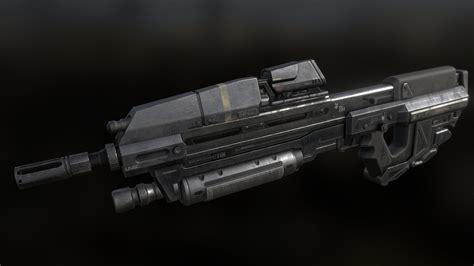 Halo Assault Rifle 3d Model Download