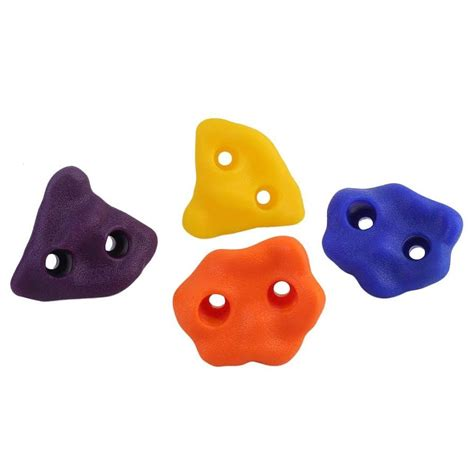 Hand holds for climbing wall Image