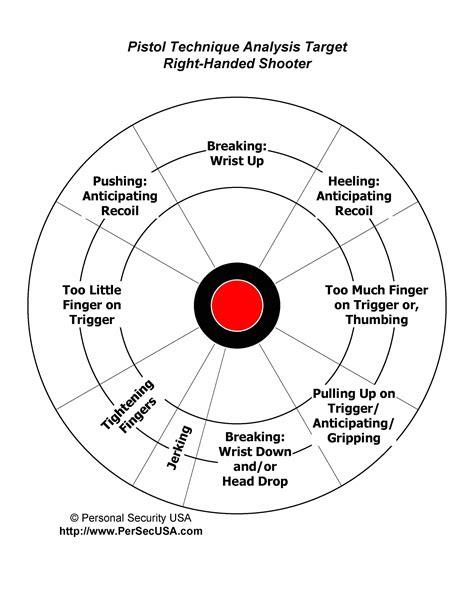 Handgun Diagnostic Target