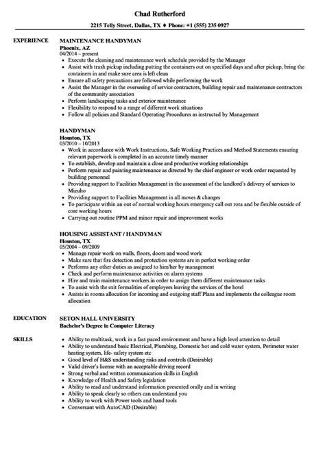 Handyman Resume Job Description How To Write A Proposal