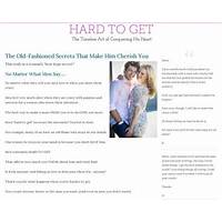 Hard to get: the timeless art of conquering his heart coupons