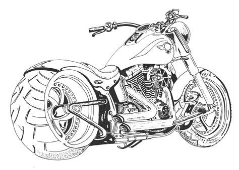 Harley Davidson Malvorlage
