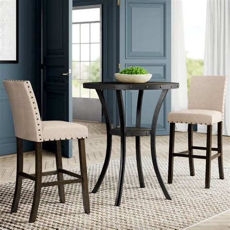 Haysi 3 Piece Pub Table Set