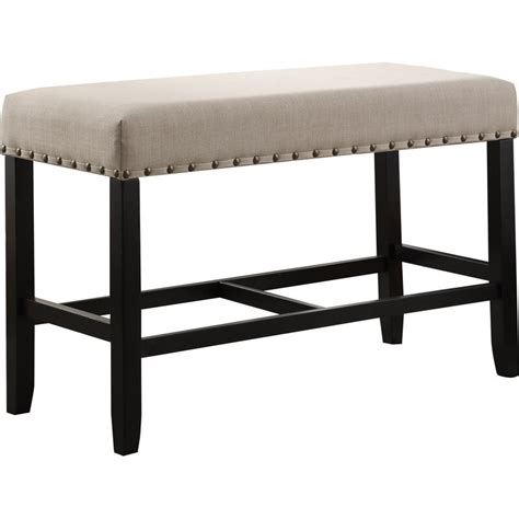 Haysi Upholstered Bench with Nailhead Trim