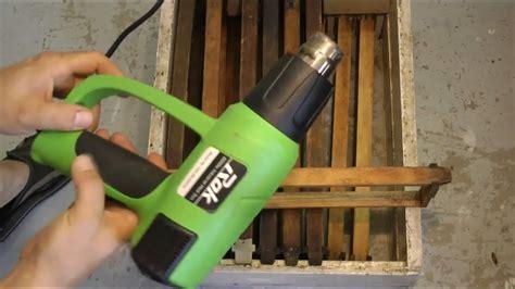 Heat Gun Clean Frames Wax Moth