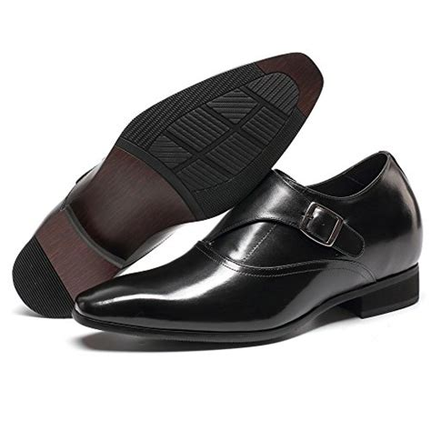 height Increasing Elevator Shoes 2.76'' Taller Men's Dress Loafers Shoes H71K40K022D
