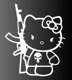 Hello Kitty Ak 47 Car Decal
