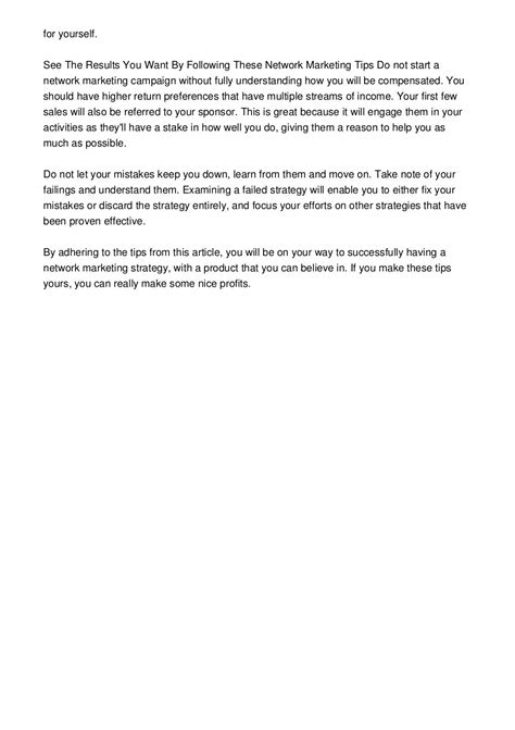 Help Your Customers Find You With These Network Marketing Tips