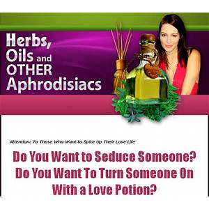 Herbs, oils and other aphrodisiacs promo