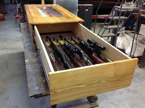 Hidden Gun Safe Coffee Table Plans