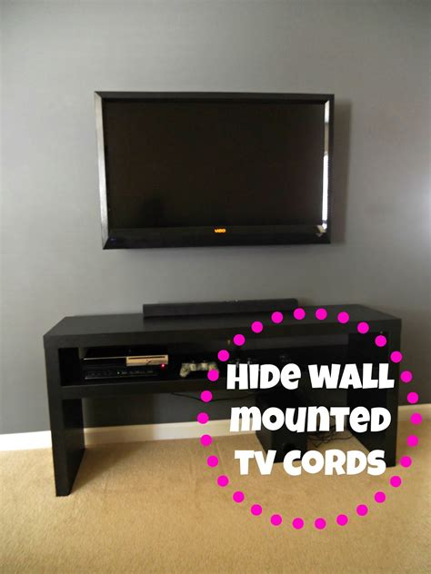 Hide cords wall mounted tv Image