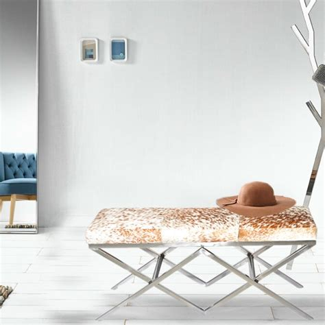 Hide metal bench by fashion n you by horizon interseas Image