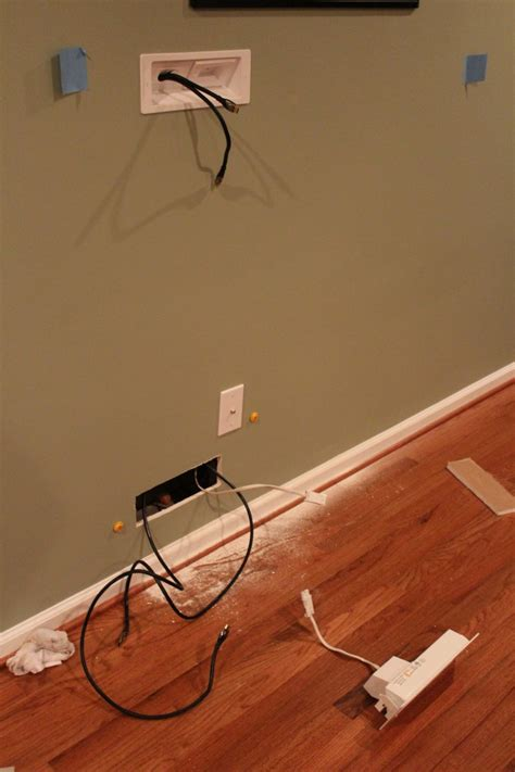 Hiding wires wall mount tv Image