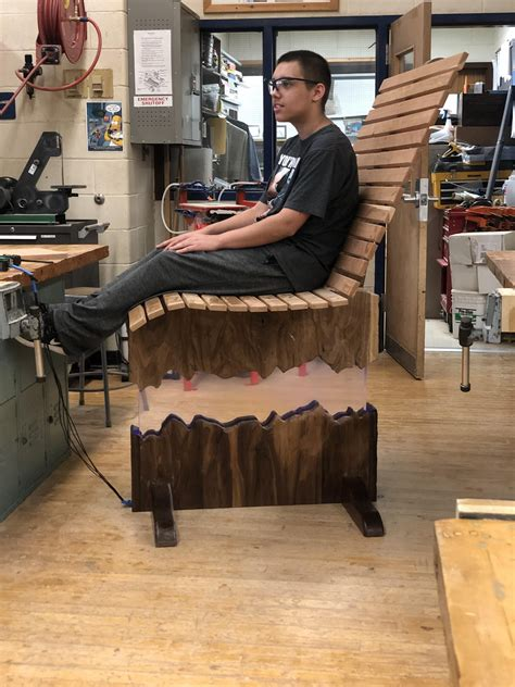 High school woodworking project Image