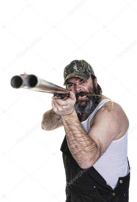 Hillbilly Shooting Shotgun