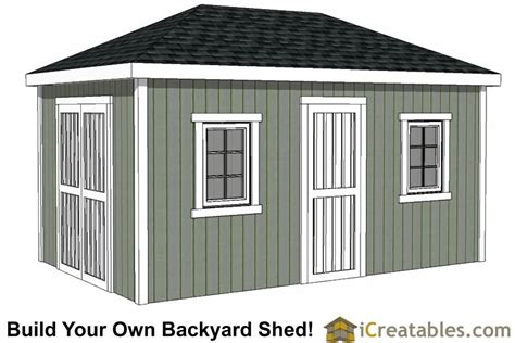 Hip roof shed plans free Image