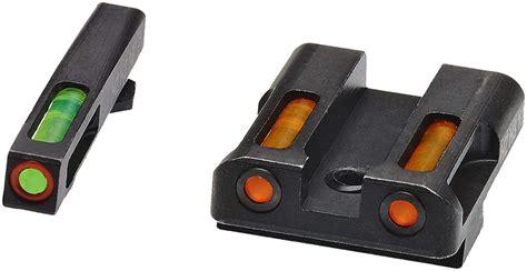Hiviz Litewave H3 Tritium Orange Ring Front Sight Set Wgreen Litepipes Glock 9mm40sw357 Sig Litewave H3 Tritium Sight Set
