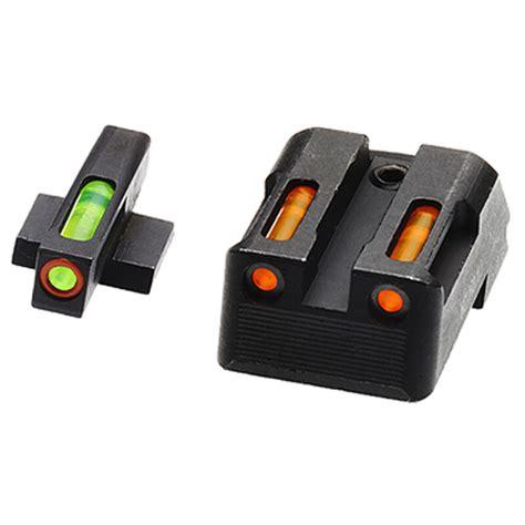 Hiviz Litewave H3 Tritium Orange Ring Fs W Green Orange Litepipes Springfield Xdxdsxdexdm Lightwave H3 Tritium Sight Set