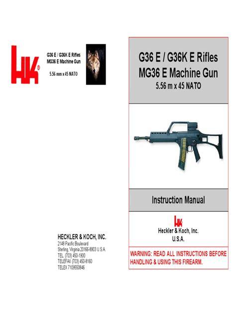 Hk G36 Assault Rifle Manual Telescopic Sight Firearms