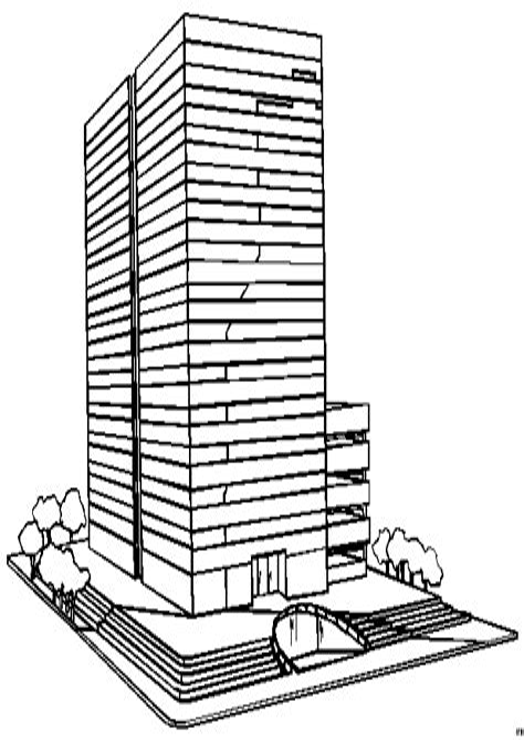 Hochhaus Malvorlage