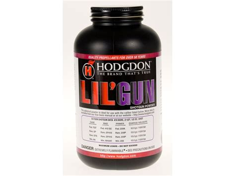 HODGDON LIL GUN POWDER HODGDON POWDER CO INC Low