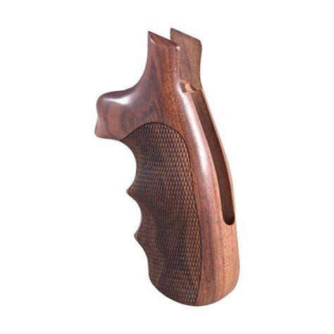 Hogue Wood Monogrips Checkered Pau Ferro Grip Fits Sw N Round