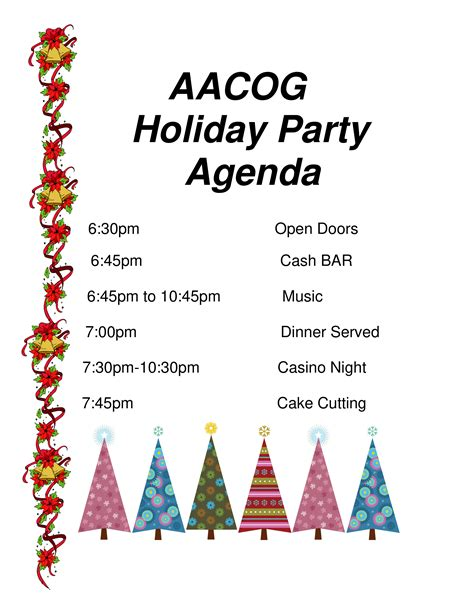 Holiday Party Agenda Template CV Templates Download Free CV Templates [optimizareseo.online]