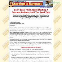 Home daycare: a practical how to guide work or scam?