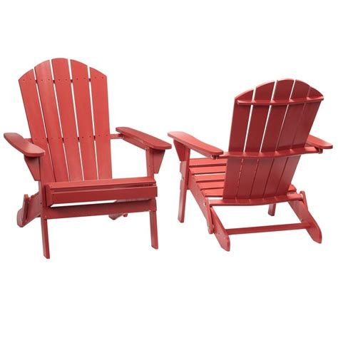 Home depot red adirondack chairs Image