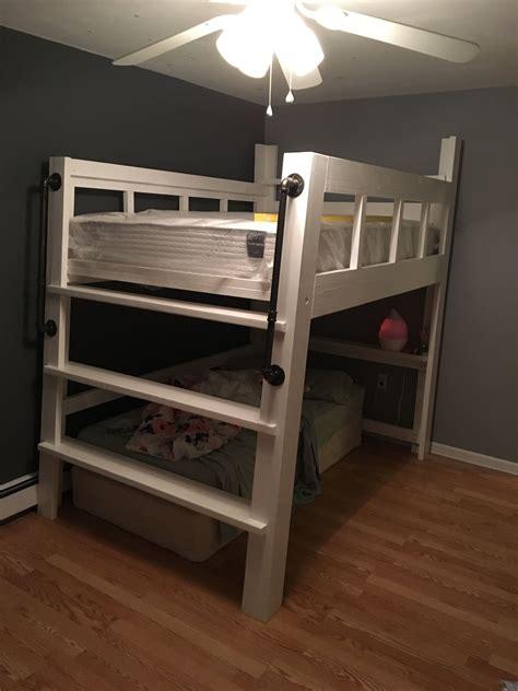 Homemade Full Size Loft Bed