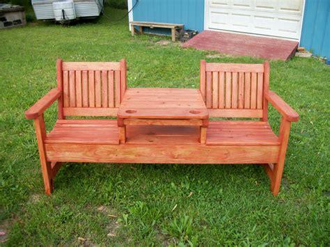 Homemade garden bench Image