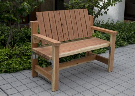 Homemade outdoor benches Image