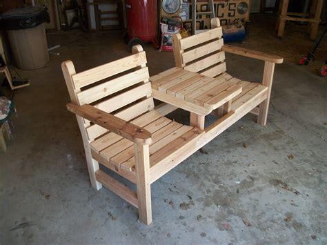 Homemade patio bench Image