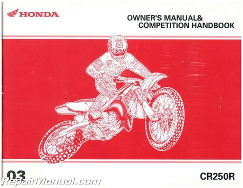 Honda CR250R Owner S Manual Competition Handbook