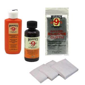 HOPPES Gun Bore Cleaner PLUS OIL 40 Cloth Rag PATCHES