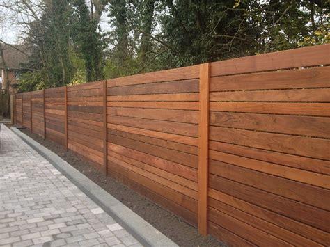 Horizontal Wood Fence Design