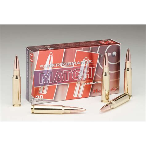 Hornady 308 Winchester 168gr Amax Superformance Match