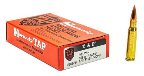 Hornady 80965le 308 Win 168gr Amax Tap 20ct