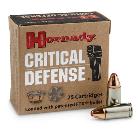 Hornady 9mm Critical Defense 115 Grain Critical Defense Tip