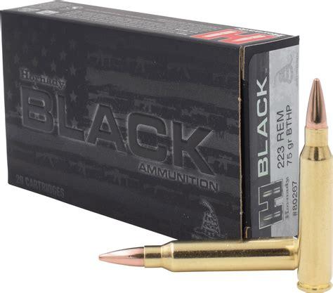 Hornady Black 223 Remington Ammo 75 Grain Boat Tail