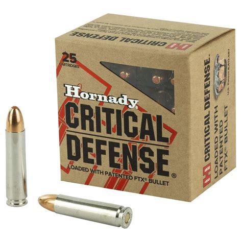 Hornady Critical Defense 30 Carbine 110gr Ftx Rifle Ammo