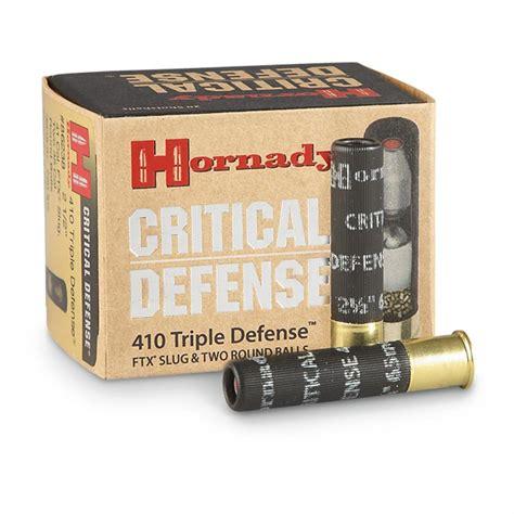Hornady Critical Defense 410 Gauge 2 1 2 FTX Slug 20