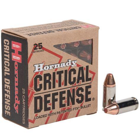 Hornady Critical Defense 9mm Ftx 115 Grain 25 Rounds