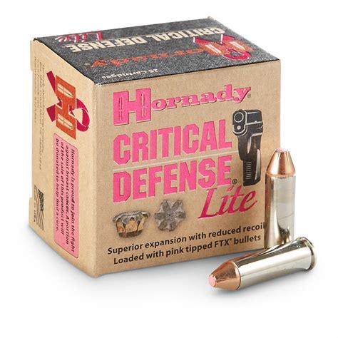 Hornady Critical Defense Lite Ammo 38 Special 90 Grain