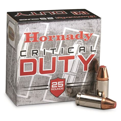 Hornady Critical Duty Tactical Handgun Ammo 9mm P 135 Grain